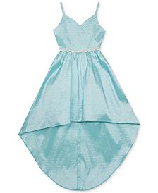 Rare Editions Big Girls Embellished-Waist Mikado Dress