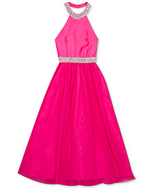 Rare Editions Big Girls Embellished Maxi Dress
