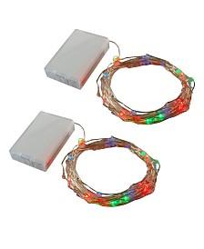 LumaBase Set of 2 Twinkle Mini LED Mini String Lights