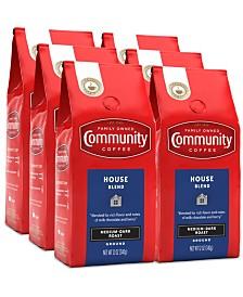 House Blend Medium-Dark Roast Premium Ground Coffee, 12 Oz - 6 Pack