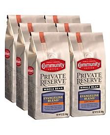Private Reserve Evangeline Blend Dark Roast Specialty-Grade Whole Bean Coffee, 12 Oz - 6 Pack