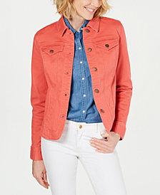 Charter Club Stretch Denim Jacket, Created for Macy's