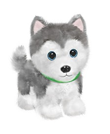 First and Main - Wuffles Huskie  Plush Dog, 7 Inches Sitting