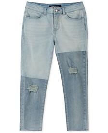 Big Girls Colorblocked Skinny Capri Jeans