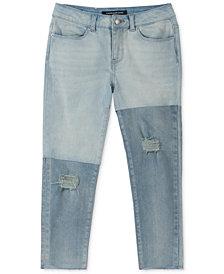 Calvin Klein Big Girls Colorblocked Skinny Capri Jeans