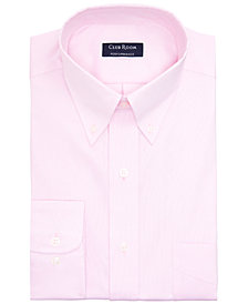 Club Room Men's Big & Tall Classic/Regular-Fit Performance Stretch Wrinkle-Resistant Pinpoint Dress Shirt, Created for Macy's