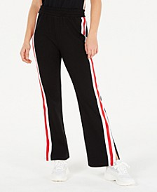 Juniors' Side-Slit Track Sweatpants