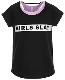 Ideology Big Girls Girls Slay Graphic T-Shirt, Created for Macy's