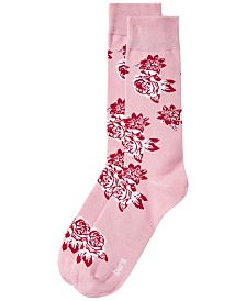 Bar III Men's Vintage Block Floral Socks, Created for Macy's