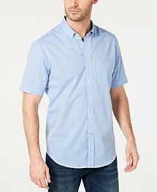Men's Stretch Performance Micro-Check Shirt, Created for Macy's