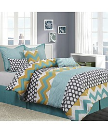 Nolan Reversible 7-Piece Queen Comforter Set