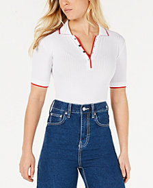 Polly & Esther Juniors' Ribbed Polo Bodysuit