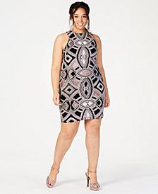 Speechless Trendy Plus Size Glitter-Print Bodycon Dress