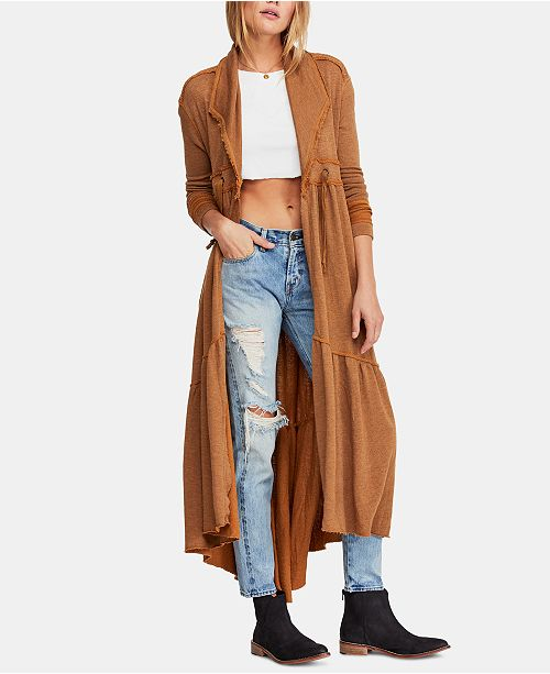 Free People Aphrodite Open-Front Cardigan