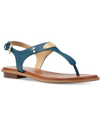 11c64c32f0a642 Image of MICHAEL Michael Kors MK Plate Flat Thong Sandals