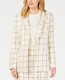 LEYDEN Goodwin Windowpane-Print Blazer