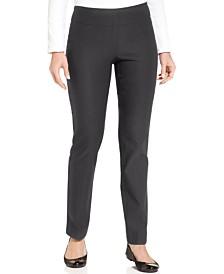 Charter Club Petite Cambridge Slim-Leg Pants, Created For Macy's