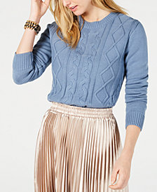 LEYDEN Hyrum Cable-Knit Sweater