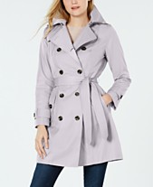 463068d7d51 London Fog Belted Double-Breasted Water Repellent Trench Coat
