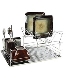"15.5"" Stainless Iron Shelf Dish Rack"