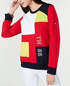 Tommy Hilfiger Patched Crewneck Sweatshirt, Created for Macy's