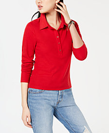 Self Esteem Juniors' Ribbed Polo Top