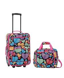 Rockland 2-Piece Newheart Luggage Set