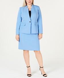 Kasper Plus Size Single-Button Jacket & Skirt
