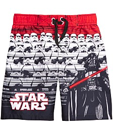 Dreamwave Little Boy Star Wars Graphic Swim Trunks