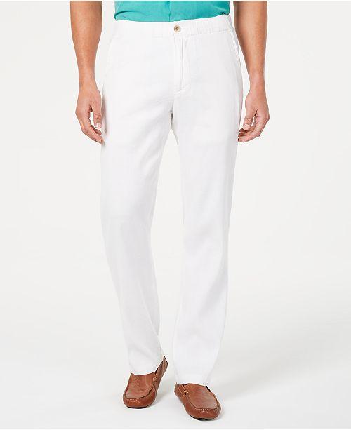 1a890e3cd6 Tommy Bahama Men's Elastic Waist Linen Pants; Tommy Bahama Men's Elastic  Waist Linen ...