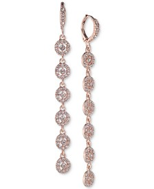 Givenchy Crystal Halo Linear Drop Earrings
