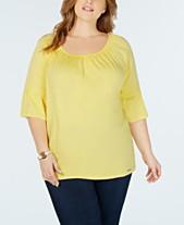 fcf99ecf0cabc Plus Size Tops - Womens Plus Size Blouses   Shirts - Macy s