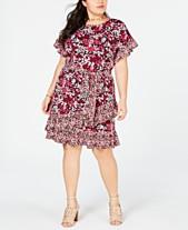 1462ca77505 MICHAEL Michael Kors Plus Size Ruffled Floral-Print Dress