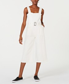 Line & Dot Victory Belted Cropped Jumpsuit