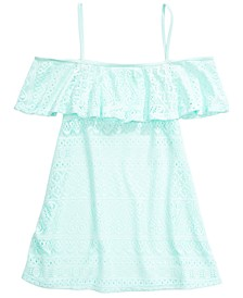 Big Girls Cold-Shoulder Cover-Up Dress