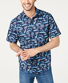 Men's Big & Tall Isle Of Palms Regular-Fit Stretch Hawaiian Camp Shirt