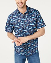 c7b1c099 Tommy Bahama Men's Big & Tall Isle Of Palms Regular-Fit Stretch Hawaiian  Camp Shirt