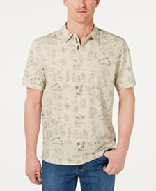 Tommy Bahama Men's Tahiti Treasure IslandZone Classic Fit Stretch Tropical-Print Polo