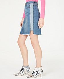 INC Raw-Hem Jean Skirt, Created for Macy's