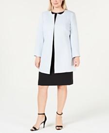 Kasper Plus Size Crepe Topper & Sheath Dress