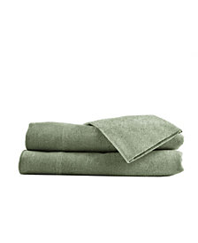 Heather Ground Solid Flannel Sheet Set Full