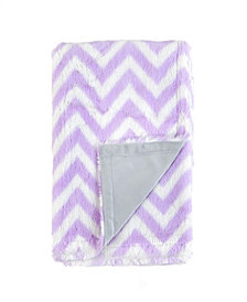Tadpoles Plush Double Layer Baby Blanket, Chevron