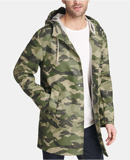 c818a652e29 Men's Mid-Length Rain Jacket, Created for Macy's