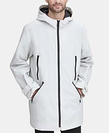 Men's 3/4-Length Hooded Rain Coat, Created for Macy's