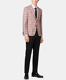 BOSS Men's Slim Fit Checked Jacket