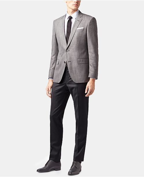 da23b88ea8 Hugo Boss BOSS Men's Slim Fit Patterned Blazer & Reviews - Blazers ...
