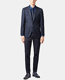 BOSS Men's Slim Fit Checked Virgin Wool Blazer