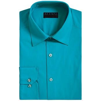 Alfani AlfaTech by Men's Slim-Fit Performance Stretch Solid Dress Shirt