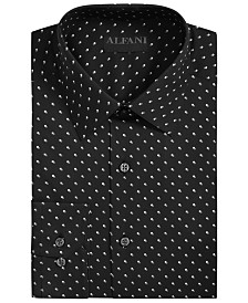 AlfaTech by Alfani Men's Athletic-Fit Stretch Shadow Box Print Dress Shirt, Created for Macy's