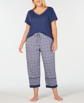 beaf95e4f8 Charter Club Plus Size Knit Top   Pajama Pants Sleep Separates